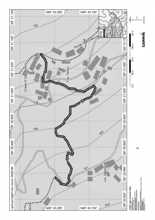 mappa cartinaPelliccione - Rasco